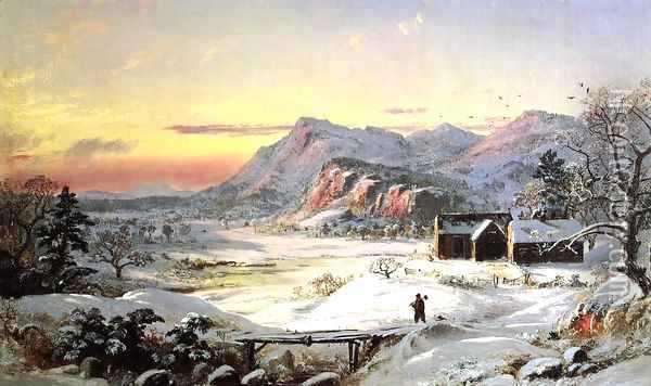 Winter Scene, North Conway, New Hampshire Oil Painting - Jasper Francis Cropsey