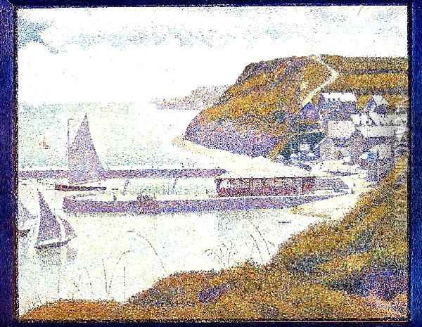 Port En Bessin The Outer Harbor High Tide Oil Painting - Georges Seurat