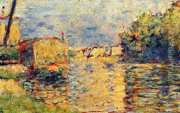 Rivers Edge Oil Painting - Georges Seurat