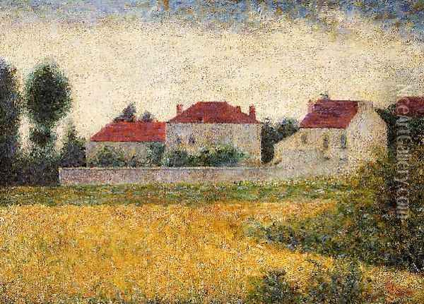 White Houses Ville D Avray Oil Painting - Georges Seurat