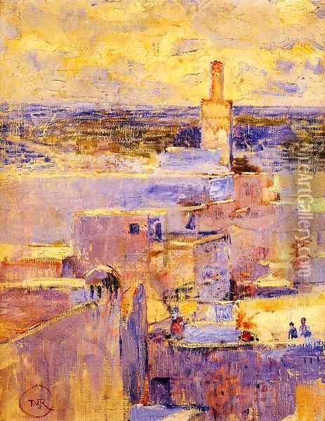 View of Meknes, Morocco Oil Painting - Theo van Rysselberghe