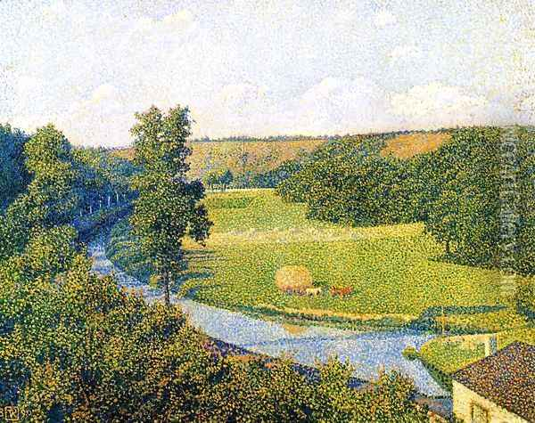 The Valley of the Sambre Oil Painting - Theo van Rysselberghe