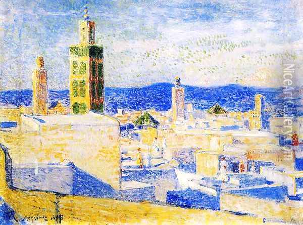 View of Meknes, Morocco I Oil Painting - Theo van Rysselberghe