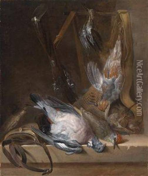 A Hunting Still Life With Game Oil Painting - Alexandre-Francois Desportes