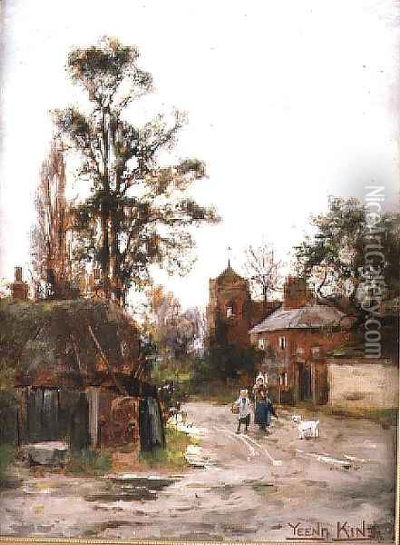 Going to the Village Oil Painting - Henry John Yeend King