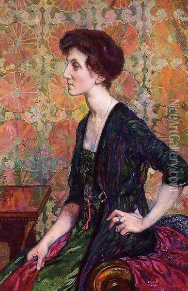 Portrait of Else Lampe-Von Quita Oil Painting - Theo van Rysselberghe