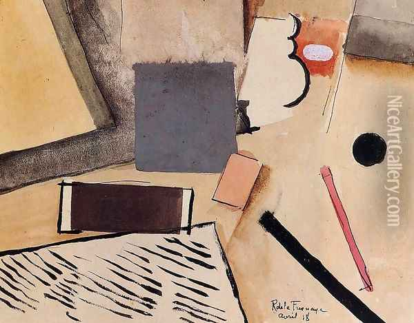 The Penholder Oil Painting - Roger de La Fresnaye
