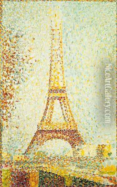The Eiffel Tower 1889 Oil Painting - Georges Seurat