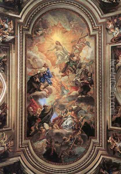 Apotheosis Of The Franciscan Order Oil Painting - Baciccio II