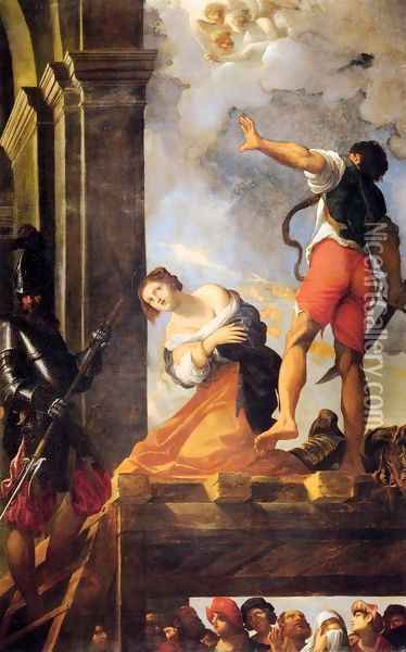 Martyrdom of St. Margaret (Martirio di santa Margherita) Oil Painting - Lodovico Carracci