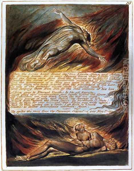 The Descent Of Christ Oil Painting - William Blake