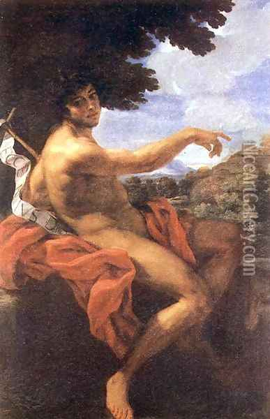 St John the Baptist c. 1676 Oil Painting - Baciccio II