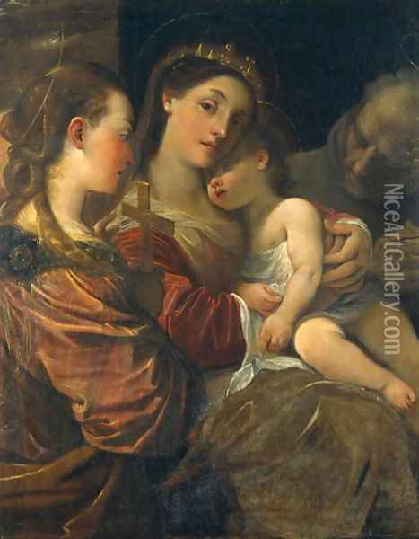 Madonna and Child with Saints Oil Painting - Lodovico Carracci