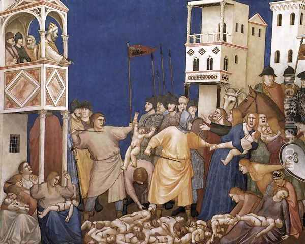 The Massacre of the Innocents 1310s Oil Painting - Giotto Di Bondone