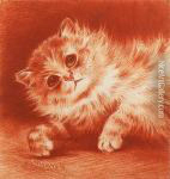 Time For A Snooze Oil Painting - Louis William Wain