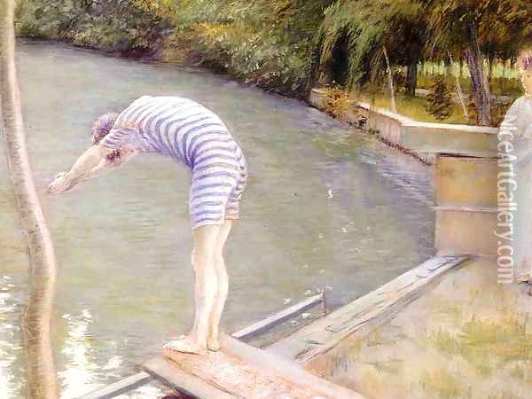 Bathers Banks Of The Yerres Oil Painting - Gustave Caillebotte