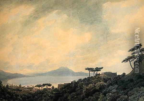 Bay of Naples from Capodimonte, 1790 Oil Painting - John Robert Cozens