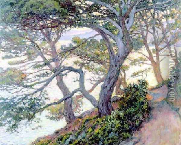 The Pines Of Rayol Oil Painting - Theo van Rysselberghe