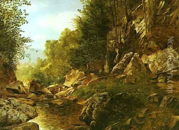 In the Catskills Oil Painting - Alexander Helwig Wyant