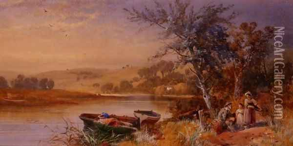 Lakeside 2 Oil Painting - James Burrell-Smith