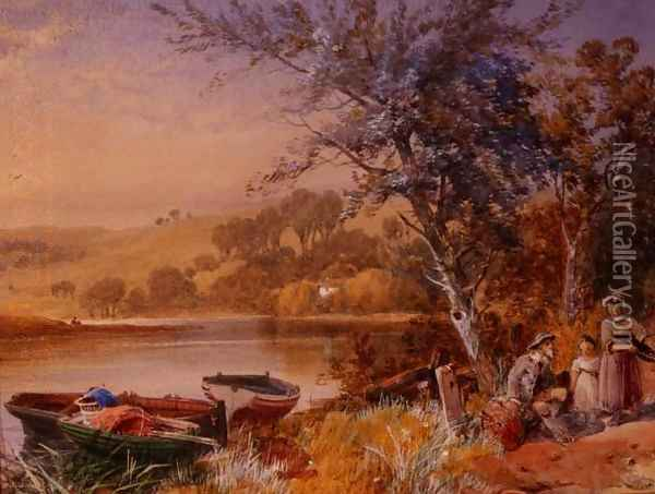 Lakeside Oil Painting - James Burrell-Smith