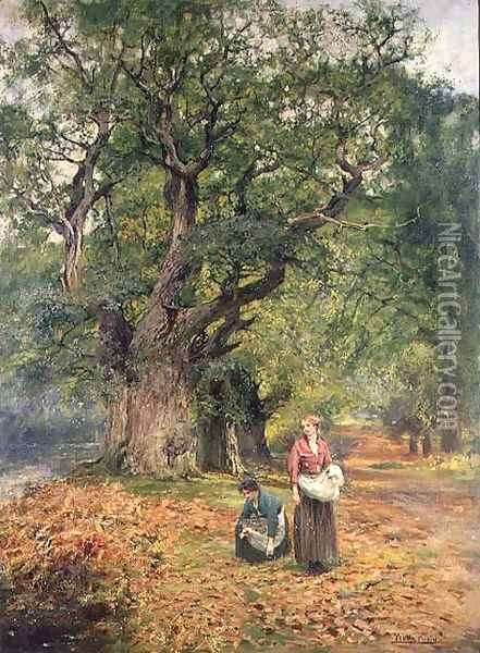 Gathering Firewood Oil Painting - Henry John Yeend King
