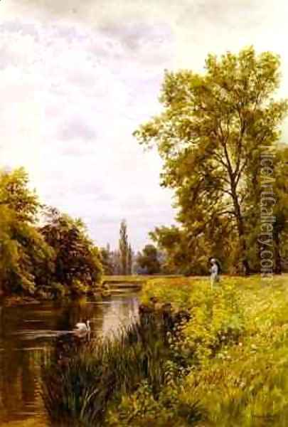 The Thames at Purley Oil Painting - William Bradley