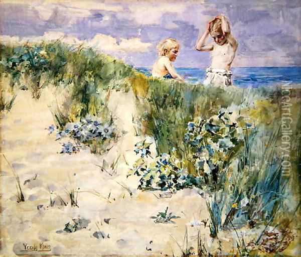 On the Dunes Oil Painting - Henry John Yeend King