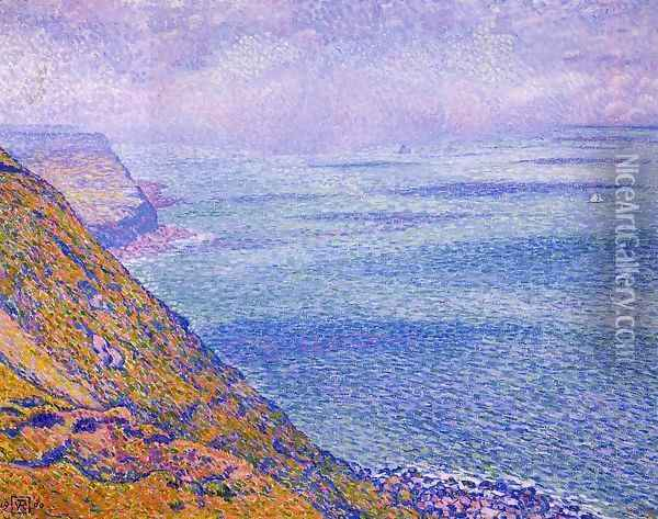 The Cap Gris Nez, Foggy Weather Oil Painting - Theo van Rysselberghe