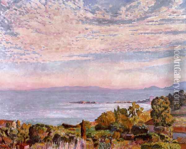 The Bay of Saint Clair Oil Painting - Theo van Rysselberghe