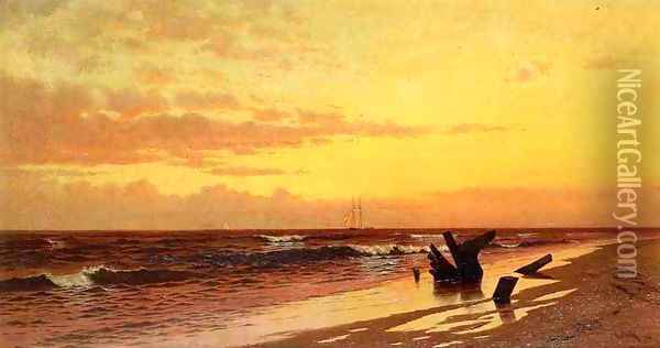 Seascape at Sunset Oil Painting - Francis Augustus Silva