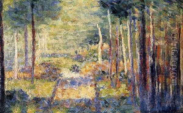 Forest Path Barbizon Oil Painting - Georges Seurat
