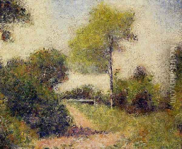 The Hedge Aka The Clearing Oil Painting - Georges Seurat