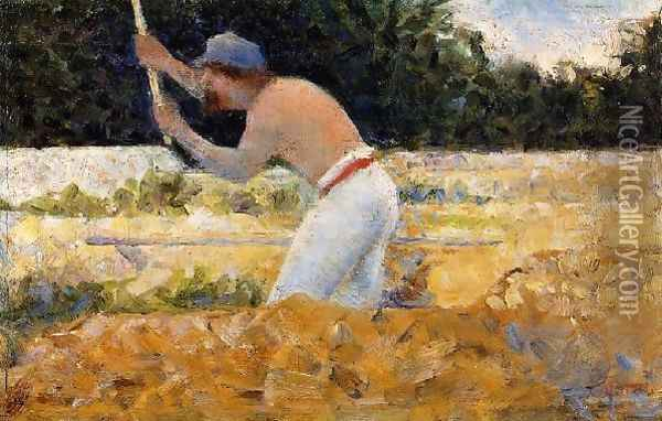 The Stone Breaker 4 Oil Painting - Georges Seurat
