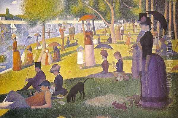Sunday Afternoon on the Island of la Grande Jatte 1886 Oil Painting - Georges Seurat