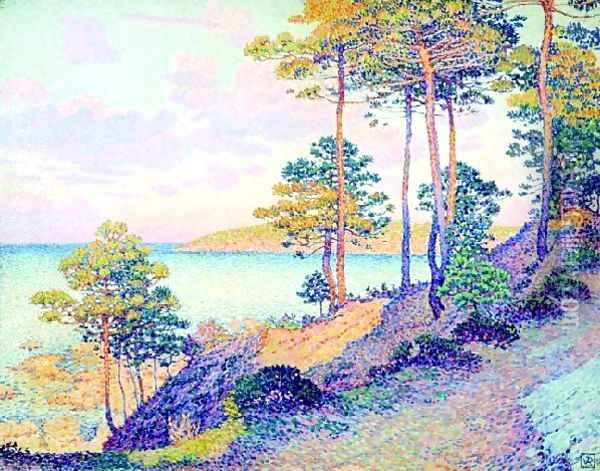 La Pointe St Pierre At St Tropez Oil Painting - Theo van Rysselberghe