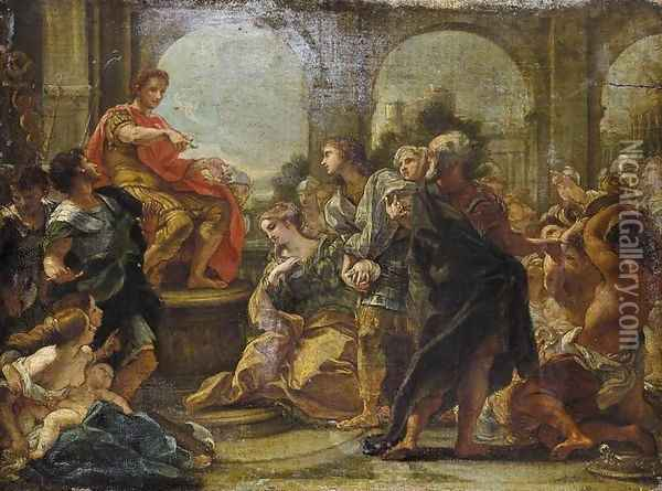 The Continence Of Scipio Oil Painting - Baciccio II