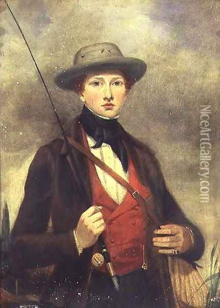 Boy with a Fishing Rod Oil Painting - Sir David Wilkie