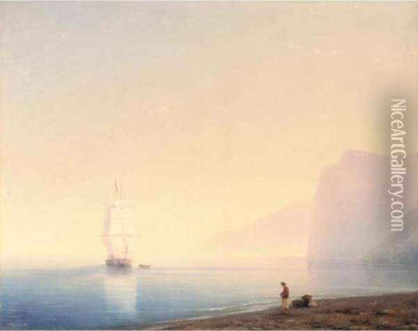 Sunrise Over Calm Waters Oil Painting - Ivan Konstantinovich Aivazovsky