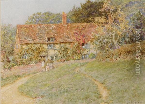 At Sandhills Near Witley Oil Painting - Helen Mary Elizabeth Allingham