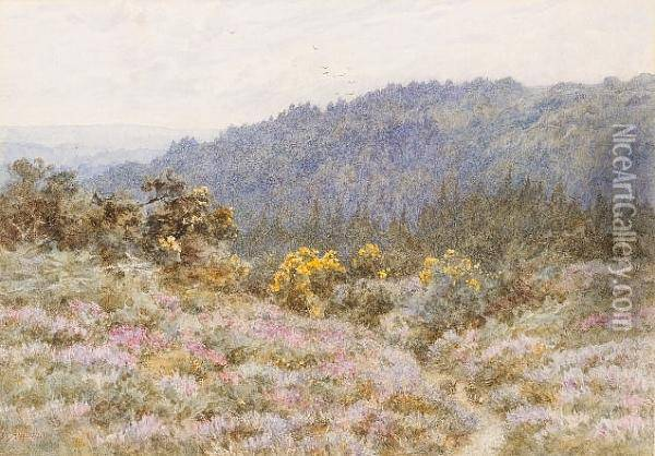 Tennyson's Woods At Blackdown, Near Haslemere, Surrey Oil Painting - Helen Mary Elizabeth Allingham