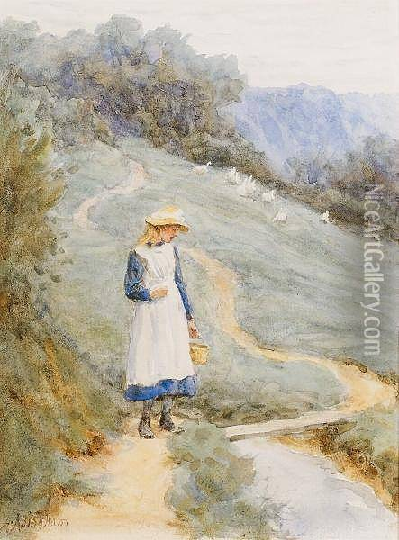 The Goose Girl Oil Painting - Helen Mary Elizabeth Allingham
