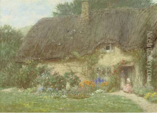 At Wroughton, Wiltshire Oil Painting - Helen Mary Elizabeth Allingham