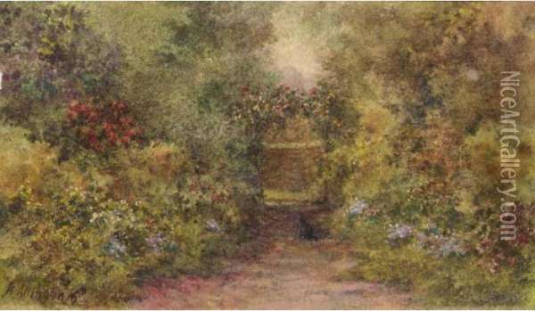 The Rose Arch Oil Painting - Helen Mary Elizabeth Allingham