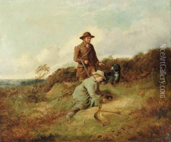 The Sportsman's Pupil Oil On Canvas Oil Painting - Richard Ansdell