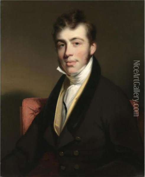 Portrait Of A Gentleman Oil Painting - George Chinnery