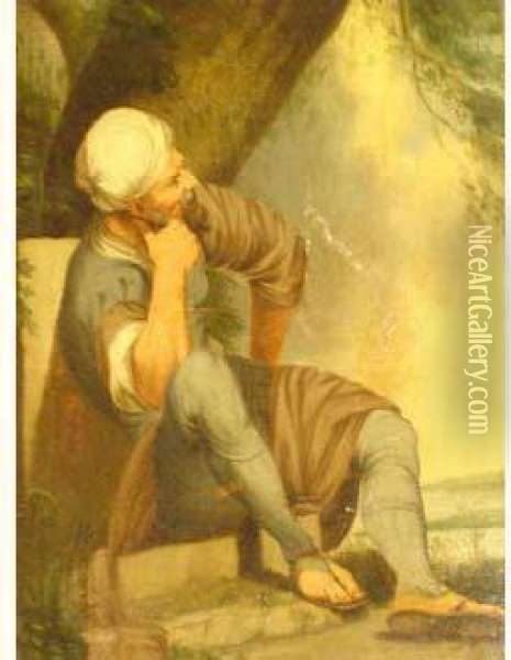 Meditation Oil Painting - George Chinnery