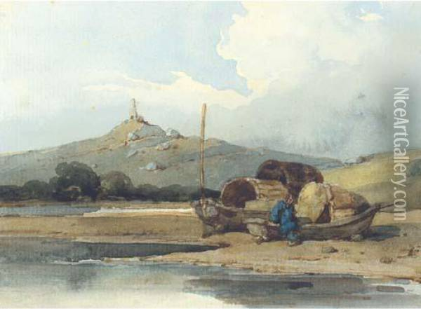 Tanka Boats Off The He'-ang Shan, China Oil Painting - George Chinnery