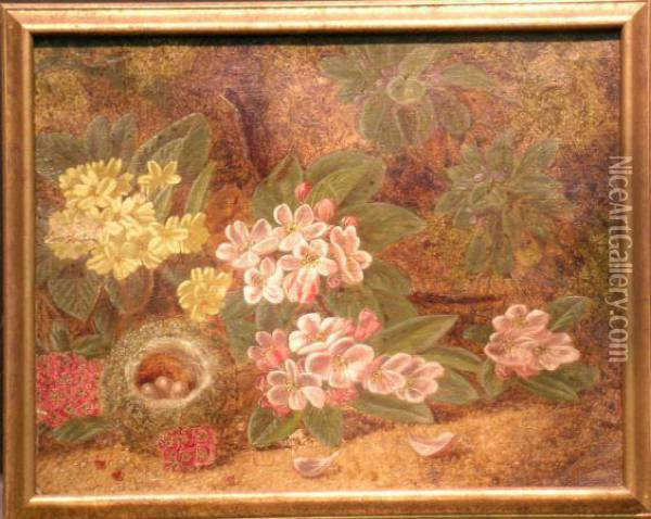 Signed Indistinctly (lr) Oil Painting - Oliver Clare