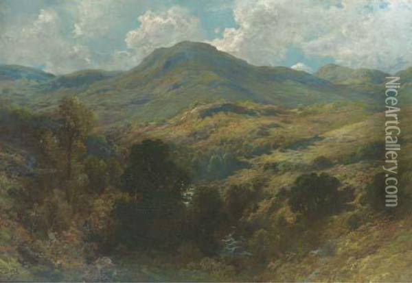 Montagne D'ecosse Oil Painting - Gustave Dore